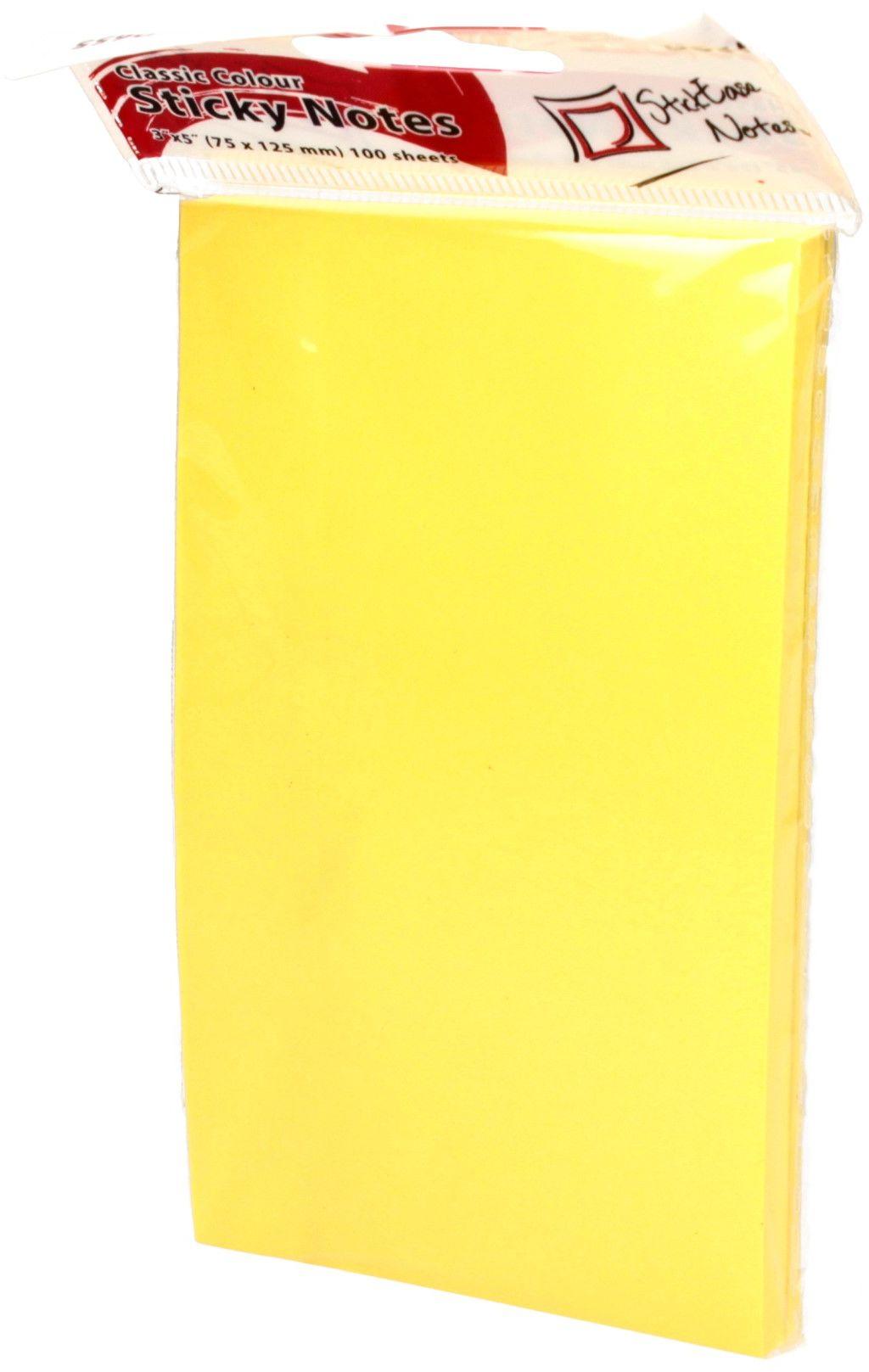 Karteczki samoprzylepne 75x125/100 żółty Eagle
