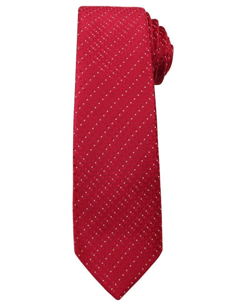 Krawat Męski, Czerwony - Angelo di Monti KRADM1400