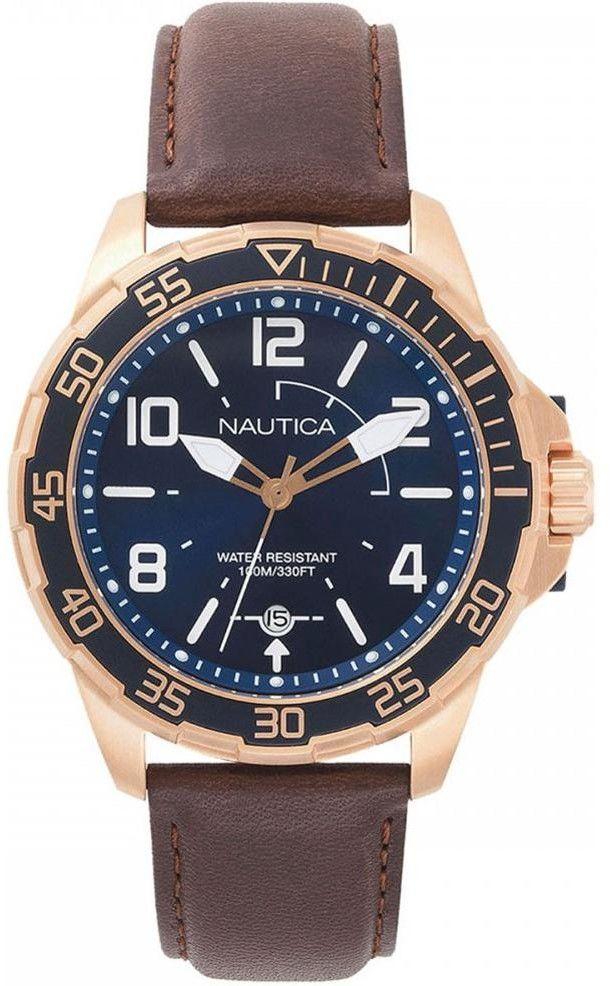 Zegarek Nautica NAPPLH003 Pilot House Navy Dial Leather Watch - CENA DO NEGOCJACJI - DOSTAWA DHL GRATIS, KUPUJ BEZ RYZYKA - 100 dni na zwrot, możliwość wygrawerowania dowolnego tekstu.