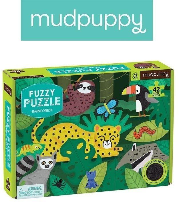 Mudpuppy puzzle z miękkimi aplikacjami tropikalny las 42 elementy 3+
