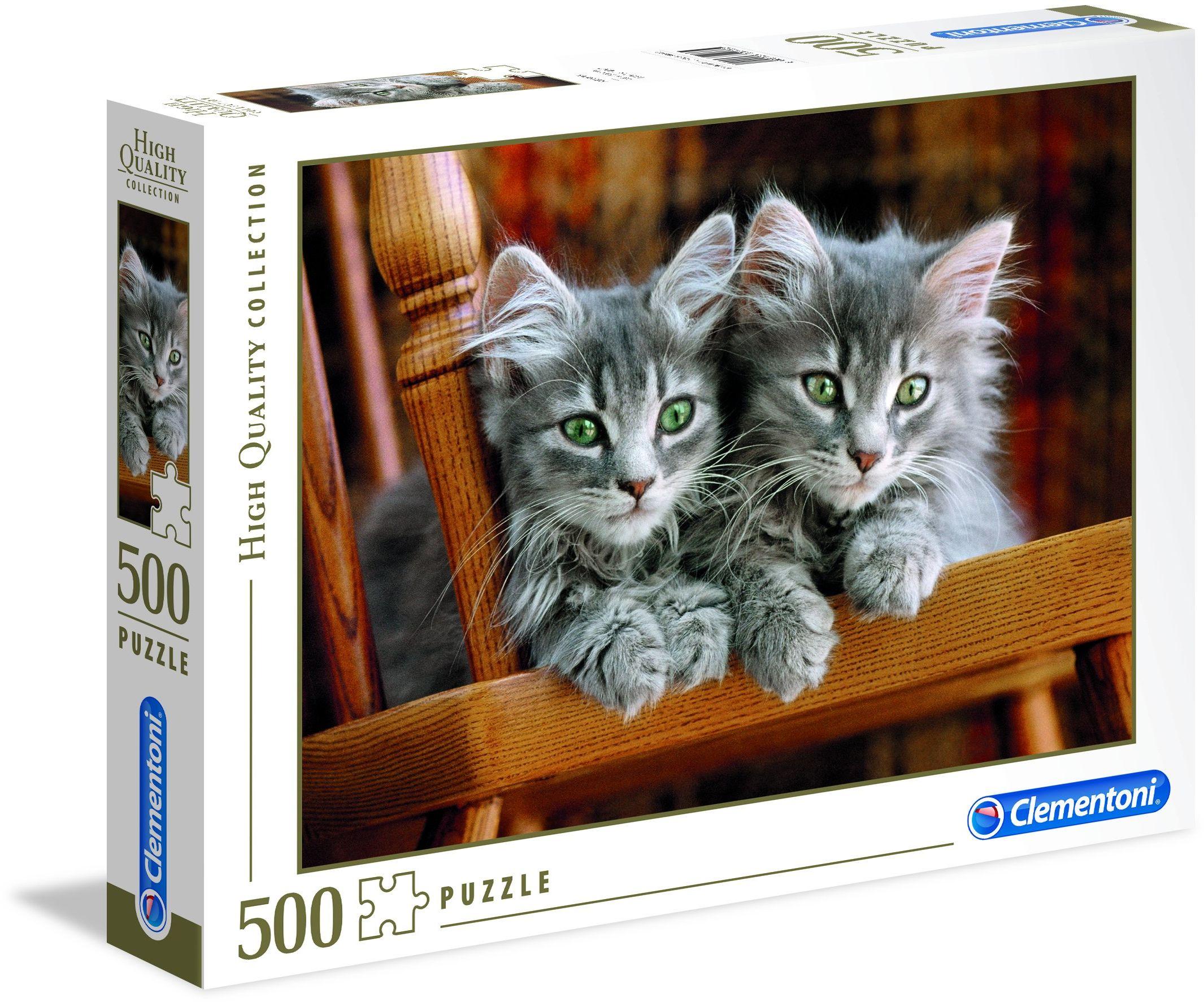 Clementoni 30545.2 - Puzzle High Quality Kolekcja kotki, 500 części