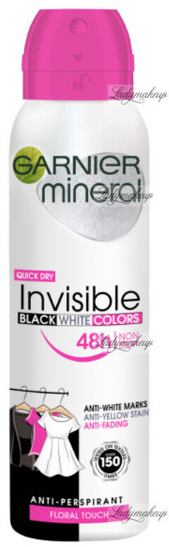 GARNIER - Mineral - Invisible Black White Colors - Floral Touch - Antyperspirant w spray u - 150 ml