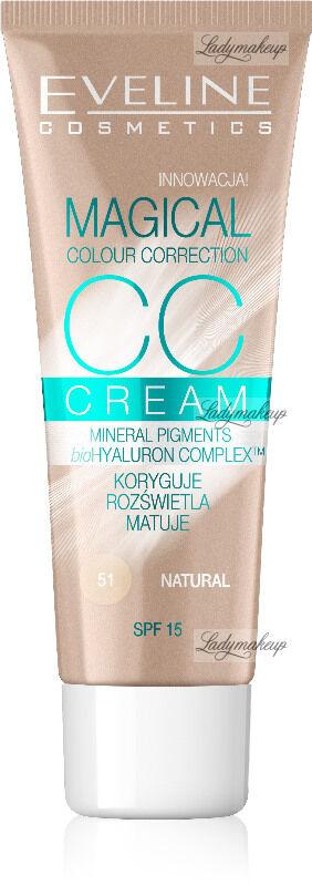 EVELINE - MAGICAL CC CREAM - Krem koloryzujący CC - 51 - NATURAL
