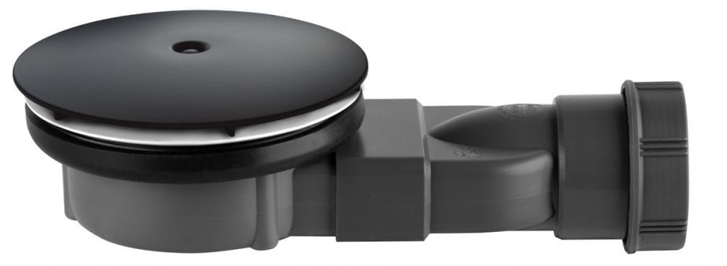 Radaway syfon 90 mm z membraną silikonową R400 Slim Black