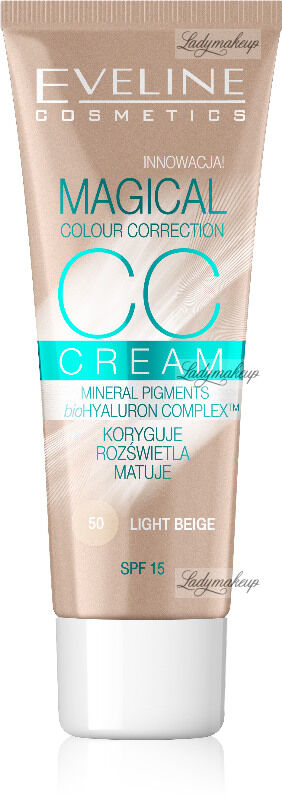 EVELINE - MAGICAL CC CREAM - Krem koloryzujący CC - 50 - LIGHT BEIGE