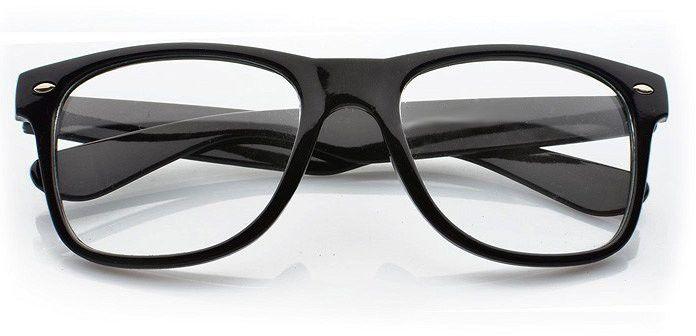 Okulary Nerdy Kujonki zerówki czarne