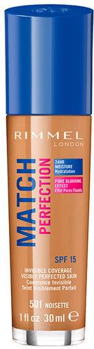 Podkład Rimmel London Match Perfection Foundation Spf15 501 Noisette 30ml