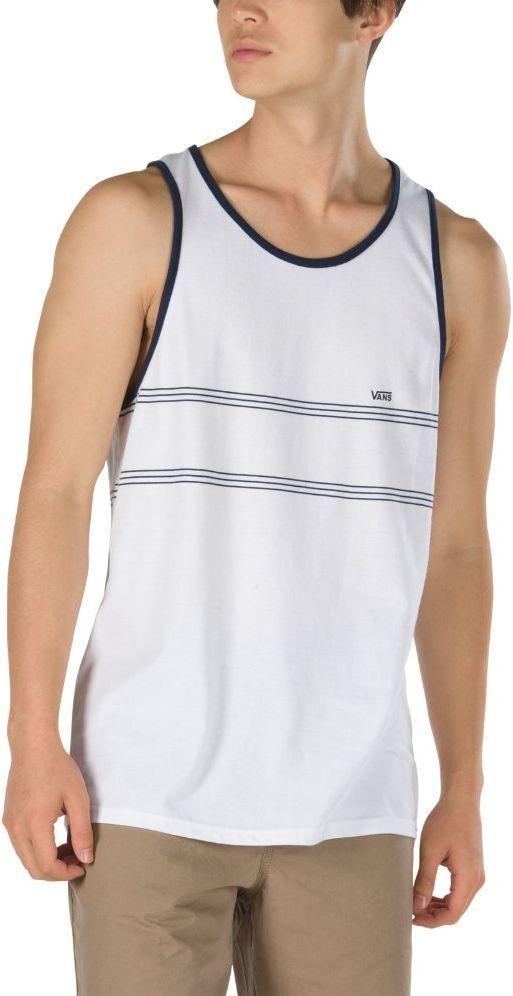 koszulka bez rękawów męska VANS CALDWELL STRIPE TANK White