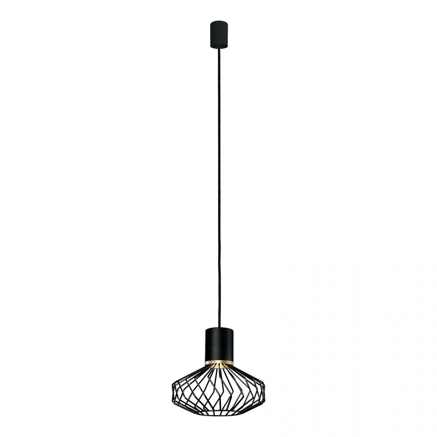 Lampa wisząca Pico 8862 BL/G Nowodvorski Lighting pojedyncza czarno-złota oprawa w dekoracyjnym stylu