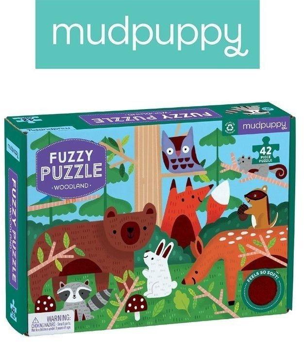 Mudpuppy puzzle z miękkimi aplikacjami las 42 elementy 3+