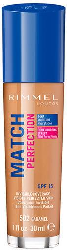 Podkład Rimmel London Match Perfection Foundation Spf15 502 Karmel 30 ml