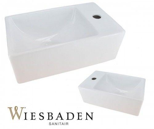 Umywalka mała ceramiczna prostokątna 30,5x18cm XXS RHEA, biała