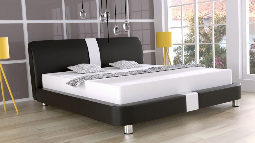 Łóżko tapicerowane Wirginia skóra naturalna