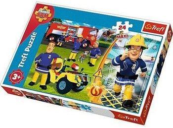 Puzzle dla dzieci Trefl 24 MAXI - Dzielny Strażak Sam, Brave Fireman Sam