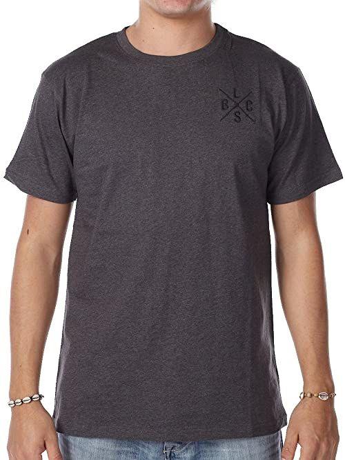 LIGHT męski T-shirt Cross, charcoal melange, M, lsd300