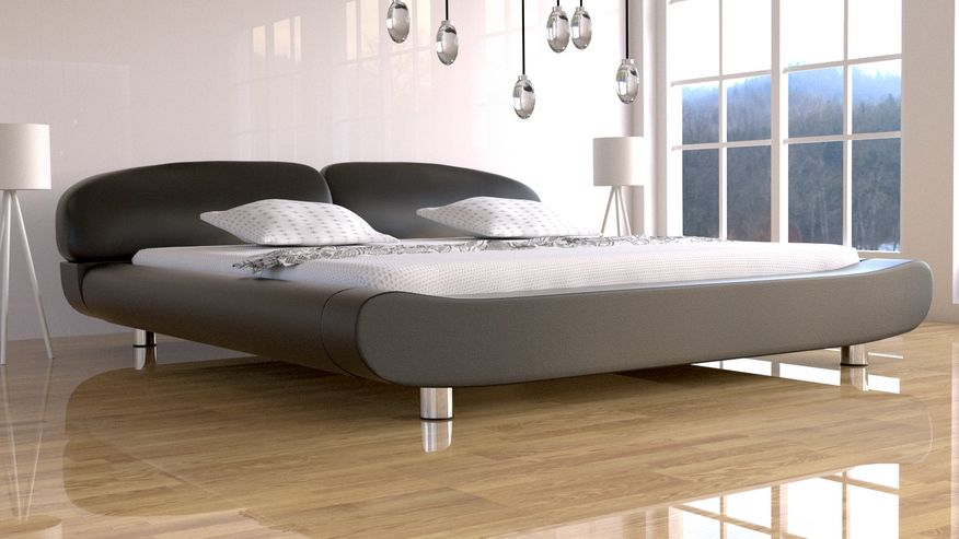 Łóżko tapicerowane Kalisto skóra naturalna