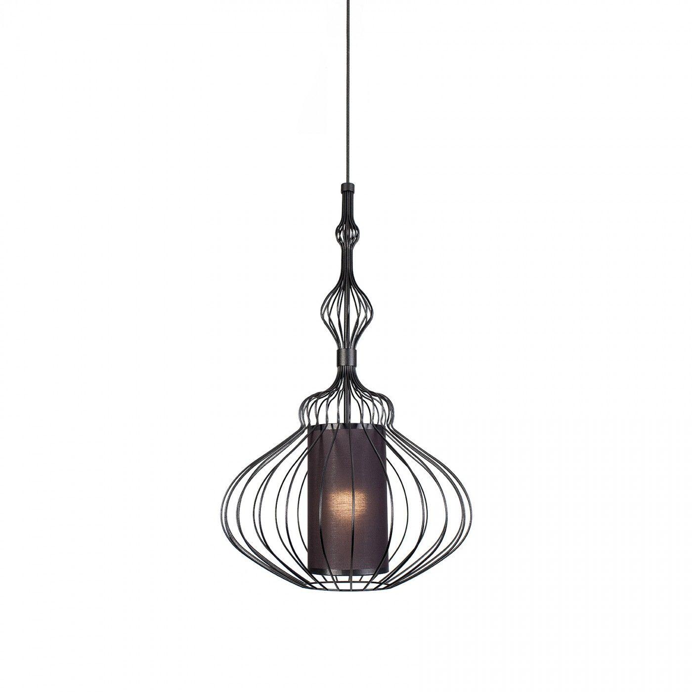 Lampa wisząca Abi M 8866 BL Nowodvorski Lighting ażurowa druciana oprawa w kolorze czarnym