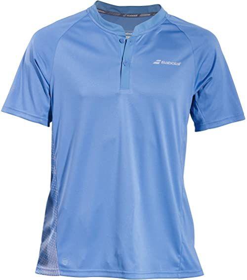 Babolat męska koszulka polo jasnoniebieska, srebrna, S odzież wierzchnia, S