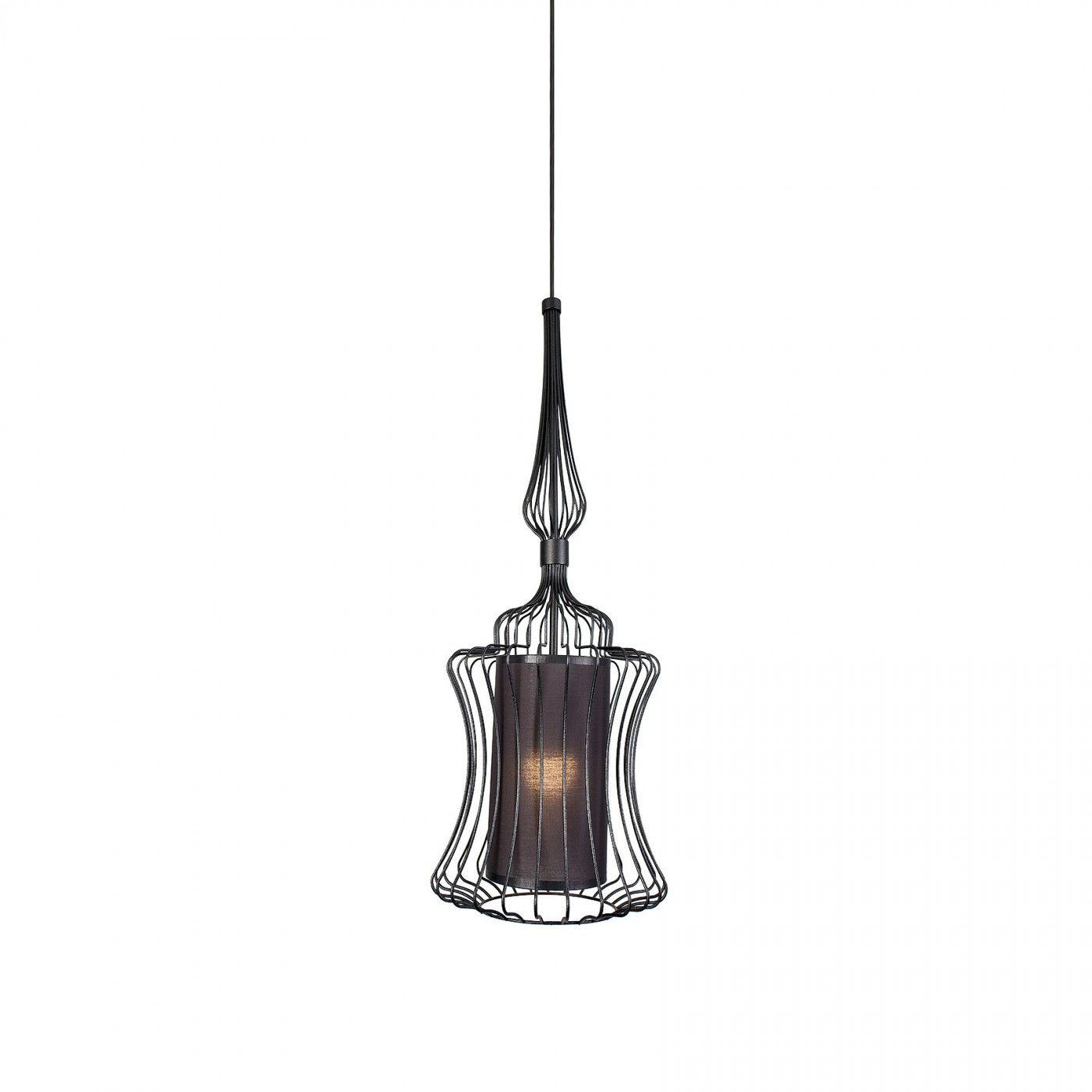Lampa wisząca Abi S 8870 BL Nowodvorski Lighting nowoczesna druciana oprawa w kolorze czarnym