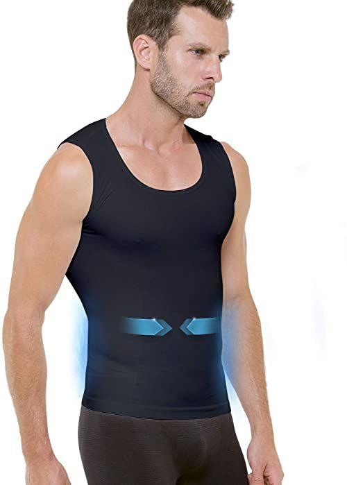 Cellutex męska koszulka Minceur Tanktop, czarna, FR Unique (talia tkanina: S/M)