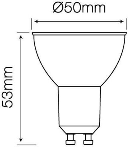 Żarówka LED line GU10 SMD 220-260V 3W 273lm 36 6500K zimna