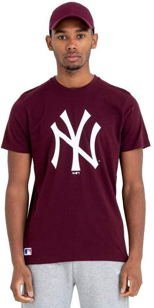 New Era męska koszulka z logo New York Yankees Mrn T-shirt fioletowy ciemny purpurowy XSS
