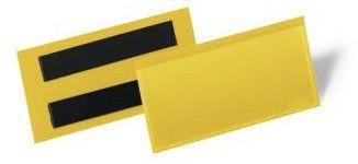 Kieszeń magazynowa magnetyczna 100x38mm DURABLE żółta 50szt. /1741 04/