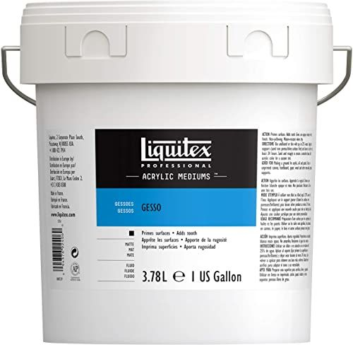 Liquitex 5336 Professional Gesso, podkład do farb akrylowych, odporny na działanie światła i starzenia, gotowy do użycia - wiadro 3, 79 l, biały