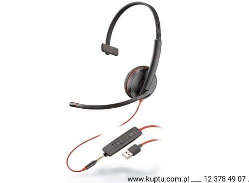 Blackwire 3215 przewodowy zestaw słuchawkowy USB A (209746-22)