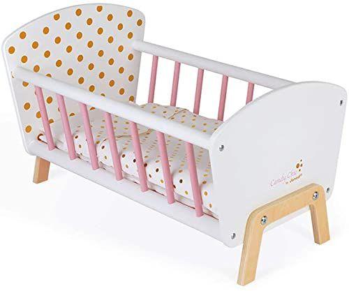 Janod J05889 Candy Chic łóżko dla lalek