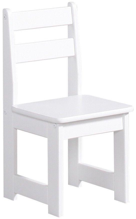 Białe krzesło Maluch 100-610-010-Pinio, meble do pokoju dziecięcego