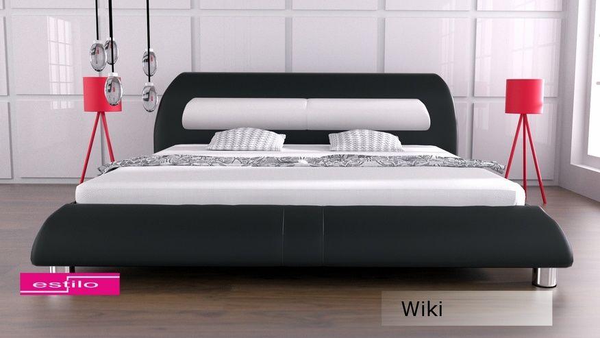 Łóżko tapicerowane Wiki skóra naturalna 180x200