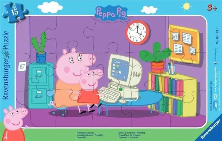 Puzzle w ramce 15 Świnka Peppa - Ravensburger
