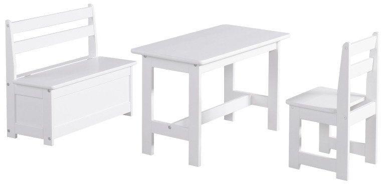 Biały stolik Maluch 100-631-010-Pinio, meble do pokoju dziecięcego