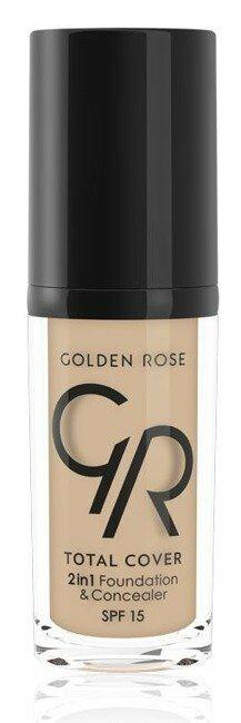 Golden Rose Total Cover 2 in 1 Foundation & Concealer Kryjący podkład i korektor 2w1 05 Cool Sand - 05 Cool Sand