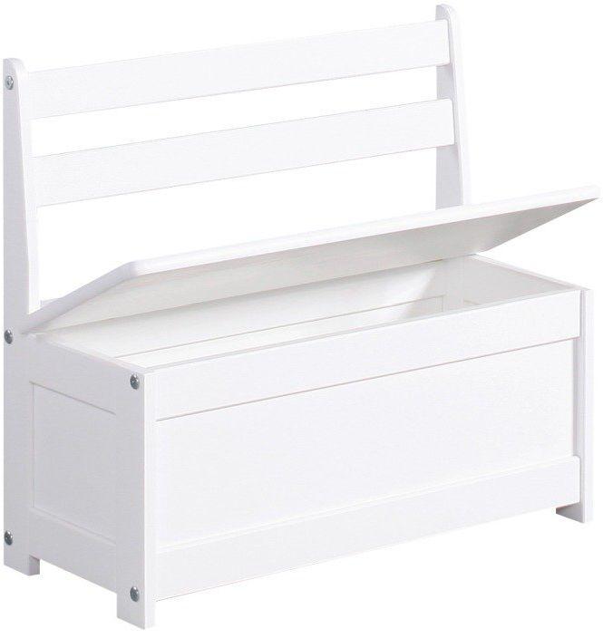 Ławo-skrzynia w bieli Maluch 100-621-010-Pinio, meble do pokoju dziecięcego