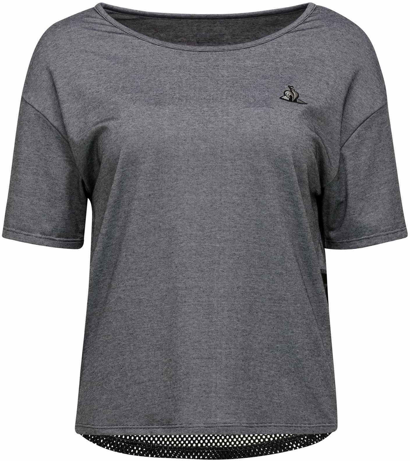 Le Coq Sportif Damska koszulka Tech Tee Loose Ss N 2 podkoszulek, szare chiné, rozmiar M
