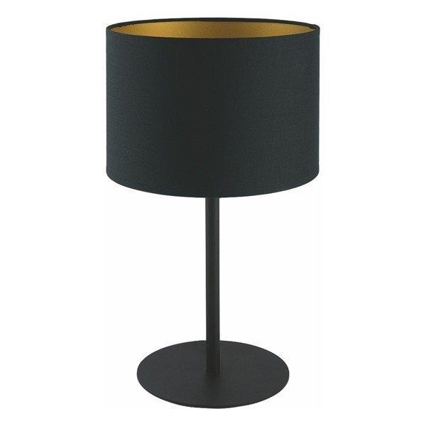Lampa stołowa nowoczesna z abażurem ALICE czarny/złoty