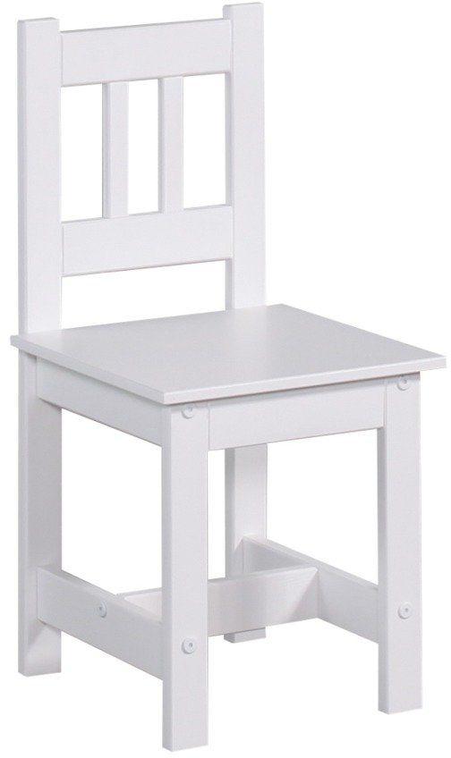 Białe krzesło Junior 110-610-010-Pinio, meble do pokoju dziecięcego