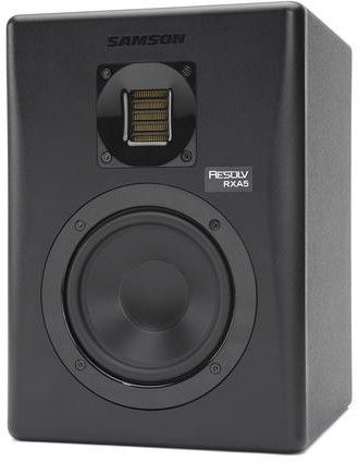 """Samson RXA5 Studio - aktywny monitor studyjny LF-5"""", HF - wstęgowy, XLR/JACK 1/4"""",RCA, MDF-kolor czarny"""