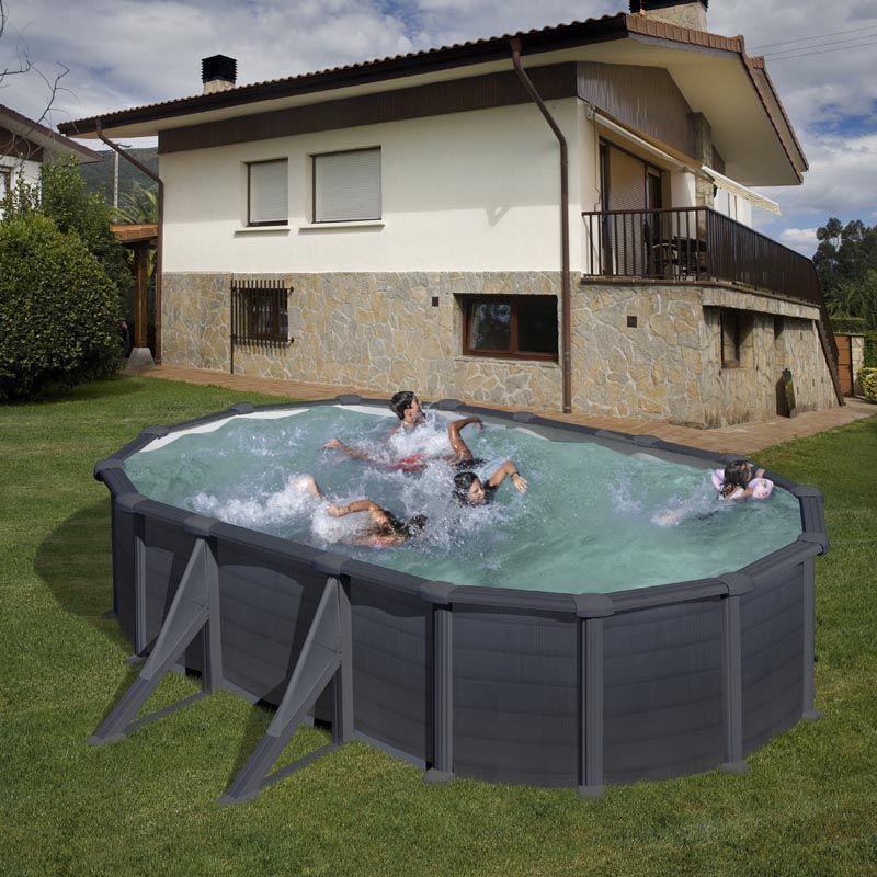 Basen GRE GRANADA 500 x 300 x 132 cm /grafit/