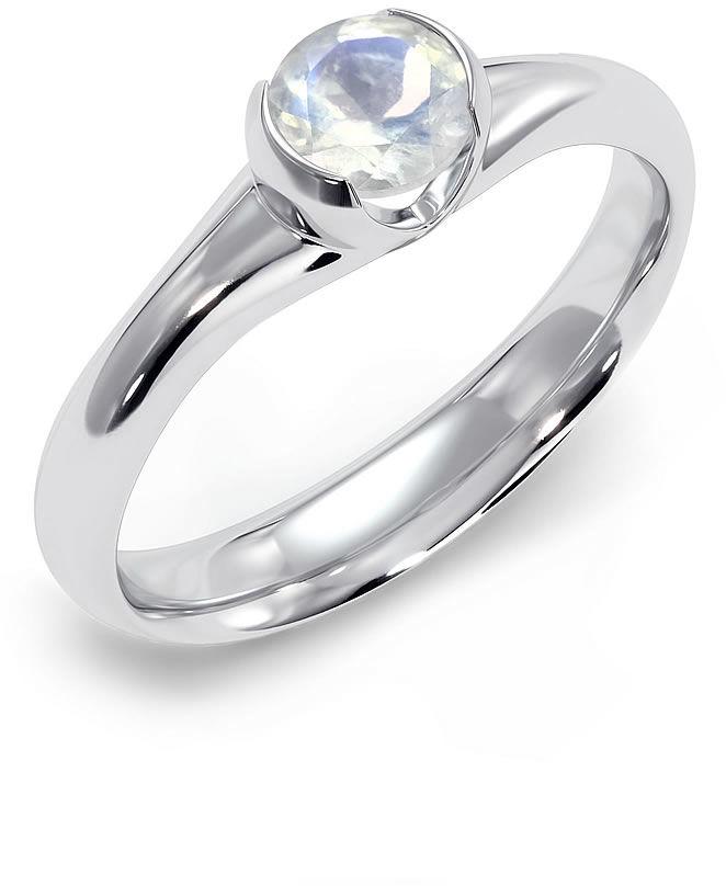 Kuźnia Srebra - Pierścionek srebrny, Kamień Księżycowy, 3g, model