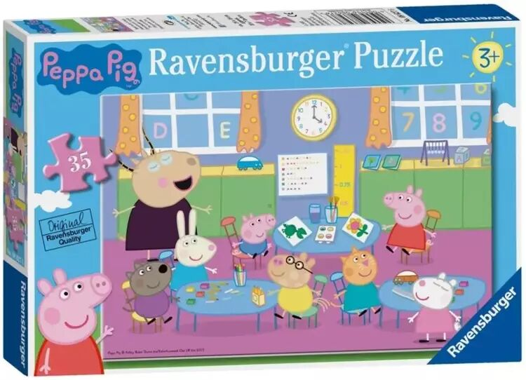 Puzzle 35 Świnka Peppa i cała klasa - Ravensburger