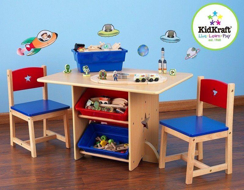 """""""Star"""" - stolik dla dzieci i dwa krzesełka, KidKraft - meble do pokoju dziecięcego"""
