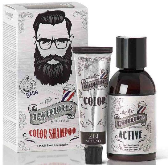 Beardburys Szampon koloryzujący półtrwały do włosów, brody i wąsów, bez siarczanów i parabenów (4 kolory)