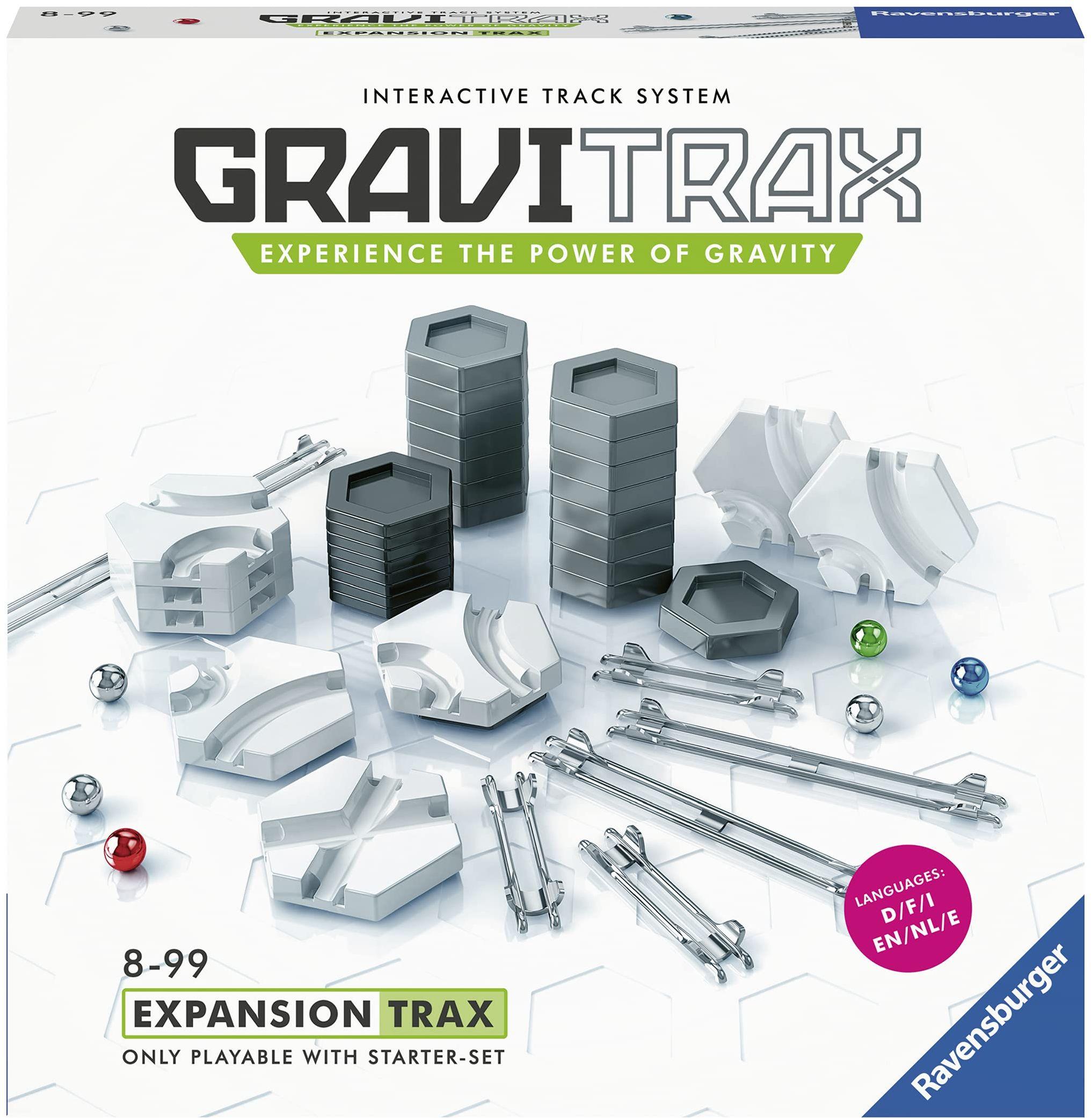 Ravensburger 27601 GraviTrax Expansion Pack-- zabawka do biegania i budowy marmuru dla dzieci w wieku 8 lat i w wersji angielskiej
