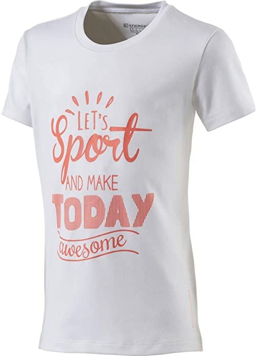 ENERGETICS dziewczęcy T-shirt Gandalfa 3 biały White/Red Light 152
