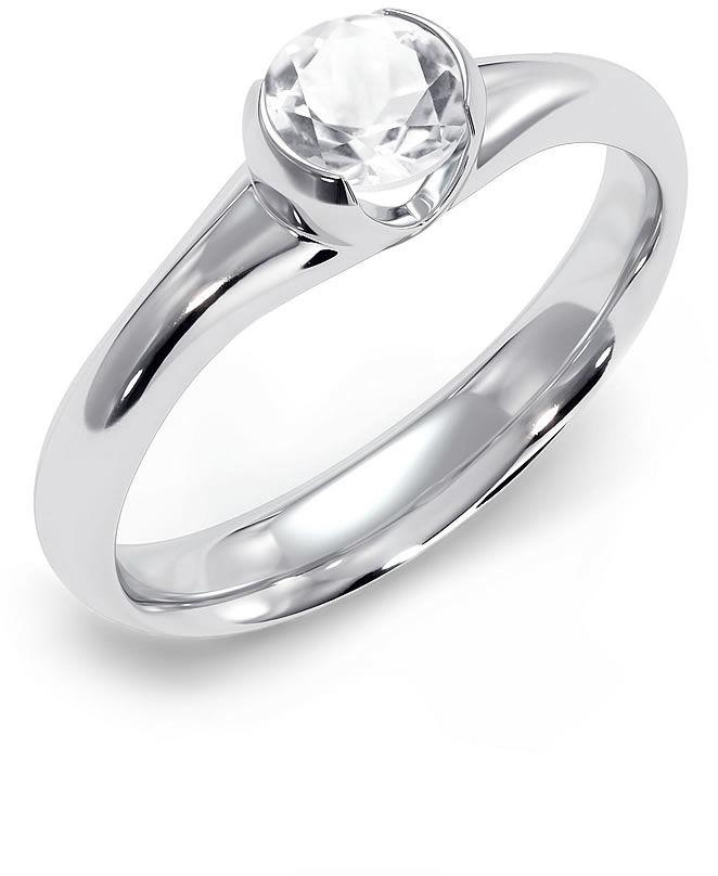 Kuźnia Srebra - Pierścionek srebrny, Biały Topaz, 3g, model