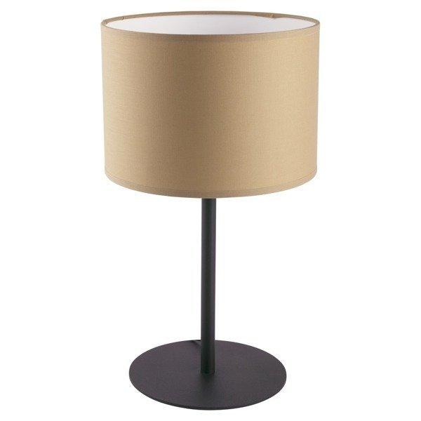Lampa stołowa nowoczesna z abażurem ALICE kawowy/biały