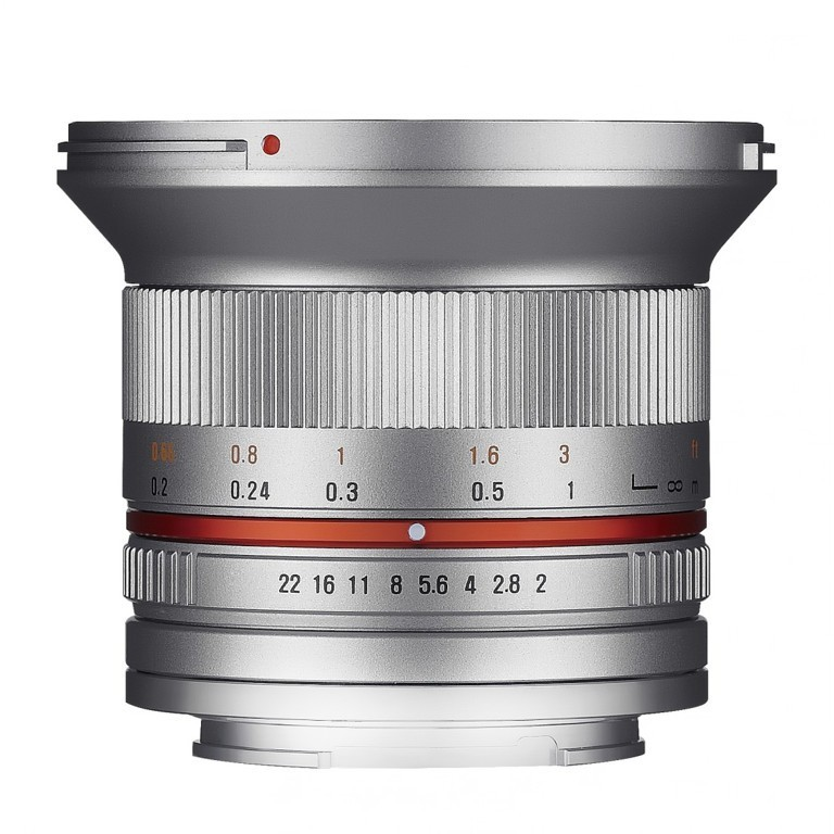 Obiektyw Samyang 12mm F2,0 Fuji X srebrny